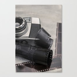 Vintage Camera and Film Canvas Print