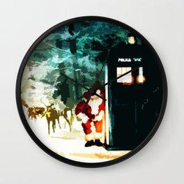 Keep Watching The Tardis Light Wall Clock