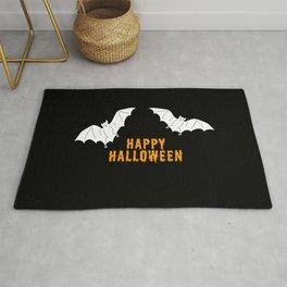 Happy Halloween flying bats Rug