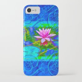 Lotus Blossom Blues iPhone Case