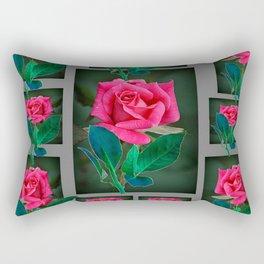 PINK ROSES VIGNETTE PATTERN ART Rectangular Pillow