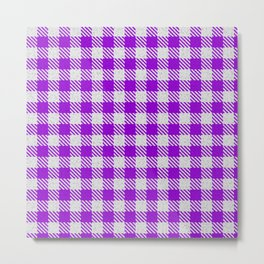 Dark Violet Buffalo Plaid Metal Print