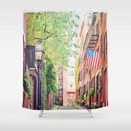 Historic Acorn Street, Beacon Hill Shower Curtain
