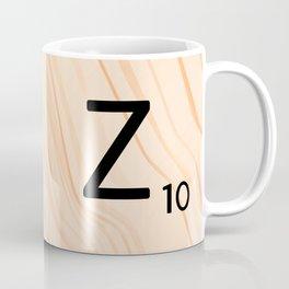 Scrabble Letter Z - Scrabble Art and Apparel Coffee Mug