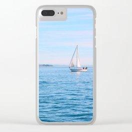 Blue Sailing Clear iPhone Case