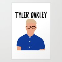 tyler oakley Art Prints featuring Tyler Oakley by BethTheKilljoy