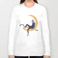 jack frost Long Sleeve T-shirts featuring Frost on the Moon by Corelle_Vairel