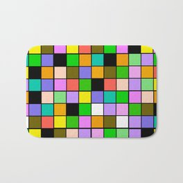 Checker Board Square Pattern Bath Mat