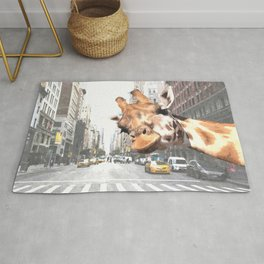 Selfie Giraffe in New York Rug
