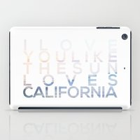 california iPad Cases featuring CALIFORNIA by Truth & Beauty Design