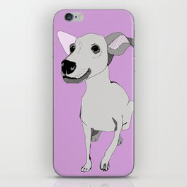 Whippet smile iPhone Skin
