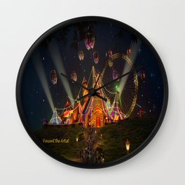Circus from Vincent the Artist Wall Clock