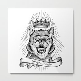 """Feast Or Famine"" – Crowned Wolf Metal Print"