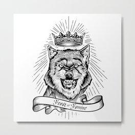"""""""Feast Or Famine"""" – Crowned Wolf Metal Print"""