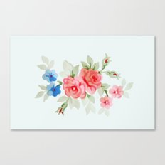 Flowers - Painting Style Canvas Print
