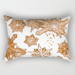 Gingerbread Cookie Blizzard Rectangular Pillow