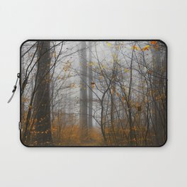 The Grey and the Yellow - Moody Forest in Fal Laptop Sleeve