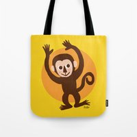 monkey Tote Bags featuring Monkey by BATKEI