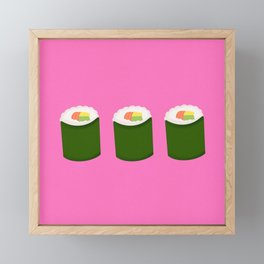 Sushi Framed Mini Art Print