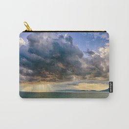 Heavenly lights through storm clouds over Lake Balaton Carry-All Pouch
