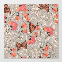 Monarch garden 001 Canvas Print