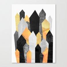 Black & Yellow Crystals Canvas Print