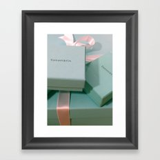 Pile of Boxes Tiffany Blue Style Framed Art Print