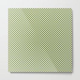 Peridot and White Polka Dots Metal Print