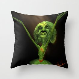 The Angry Shamrock Throw Pillow