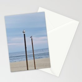Perched Seagulls Stationery Cards