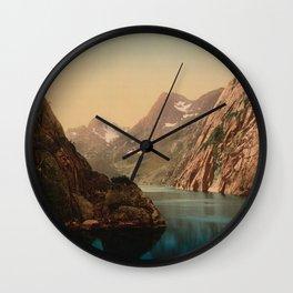 """""""Lofoten Trollfjord Norway"""" Wall Clock"""