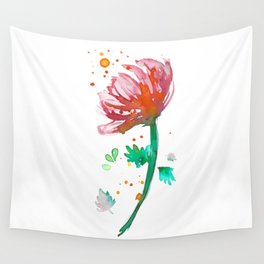 Warm Watercolour Fiordland Flower Wall Tapestry