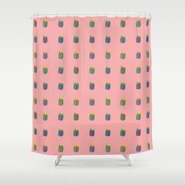 Presents pattern pink Shower Curtain