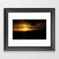 Sunset along the Great Southern Ocean - Australia Framed Art Print