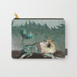 Behold the Mythical Merkitticorn - Mermaid Kitty Cat Unicorn Carry-All Pouch