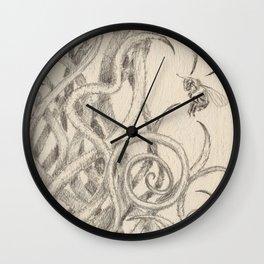 Bee and Vine Wall Clock