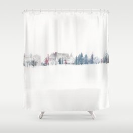 Winter Chateau Shower Curtain
