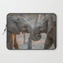 Elephants cuddling Laptop Sleeve