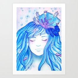 Colour theme - Blue Ocean Art Print