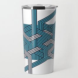 Geometric Pattern Travel Mug