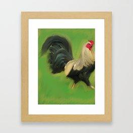 Rooster Walk Framed Art Print
