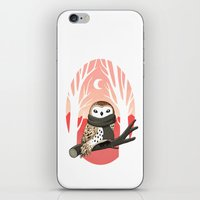 freeminds iPhone & iPod Skins featuring Winter Owl by Freeminds