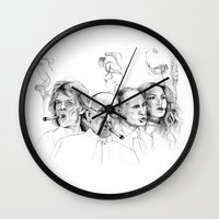 putin Wall Clocks featuring Kuba by Andreas Derebucha