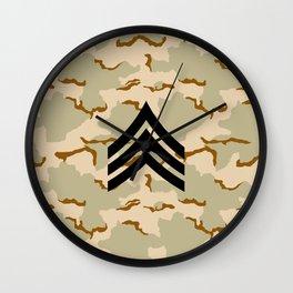 Sergeant (Desert Camo) Wall Clock