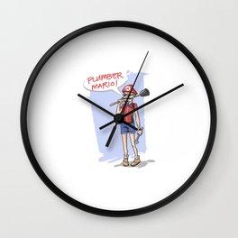 Hipster Mario Wall Clock