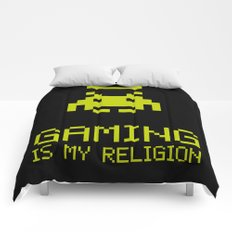 Gaming is my religion Comforters