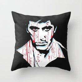 Scarface movie portrait Throw Pillow