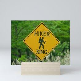 Hiker Xing Mini Art Print