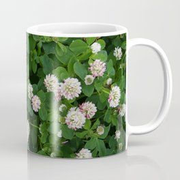 Clover flowers green and white floral field Coffee Mug