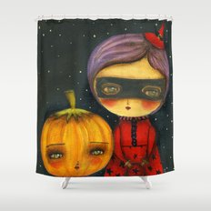 Trick Or Treating Shower Curtain